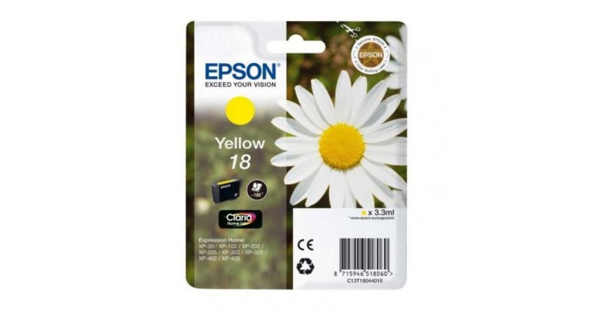 Epson - Cartuccia ad Inchiostro Originale Epson C13T18044010 Giallo