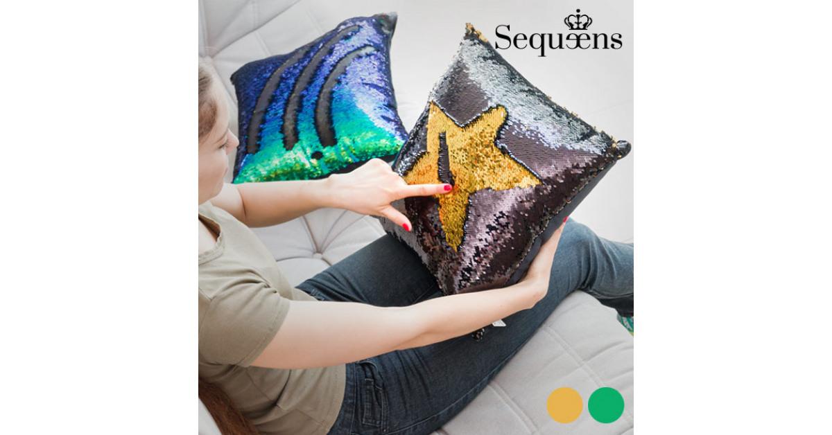 InnovaGoods - Cuscino Sirena con Federa Magica di Paillettes Sequeens